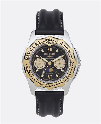 Moonphase Heat Bezel Leather Watch