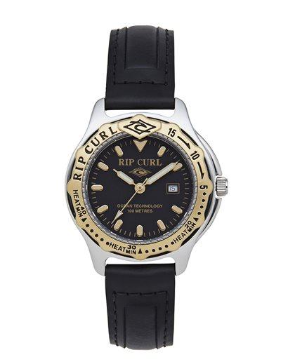 Mid Heat Bezel Leather Watch