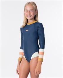 Costume intero da surf Teen Long Sleeve UV Back Zip