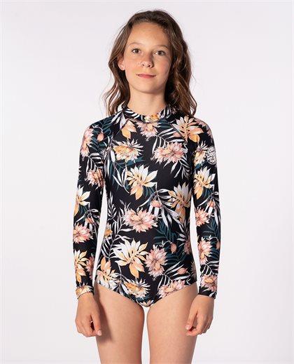 Girl Back Zip Long Sleeve Surfsuit