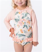 Mini Coconut Time Long Sleeve Suit
