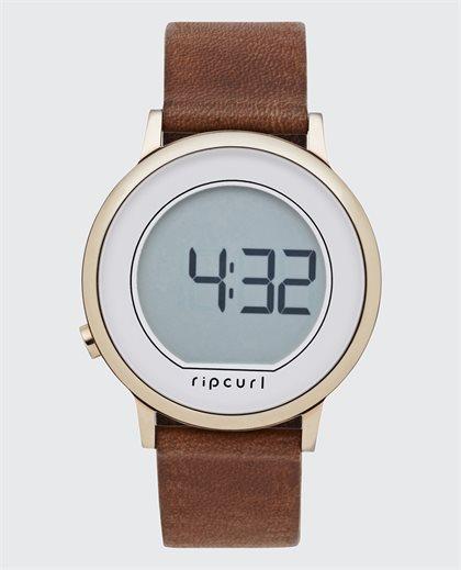 Daybreak Digital Rose Leather Watch