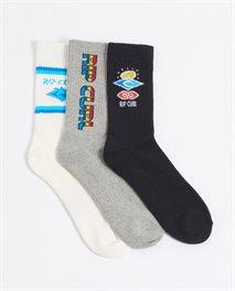Lot de 3paires de chaussettes Icons