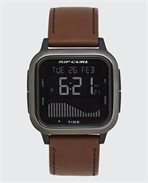 Next Tide Gunmetal Leather Watch