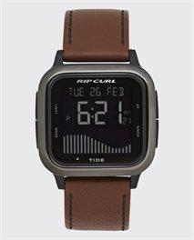 Next Tide Gunmetal Leather Watch