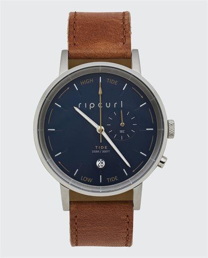 Circa Tide Digital Leather Watch