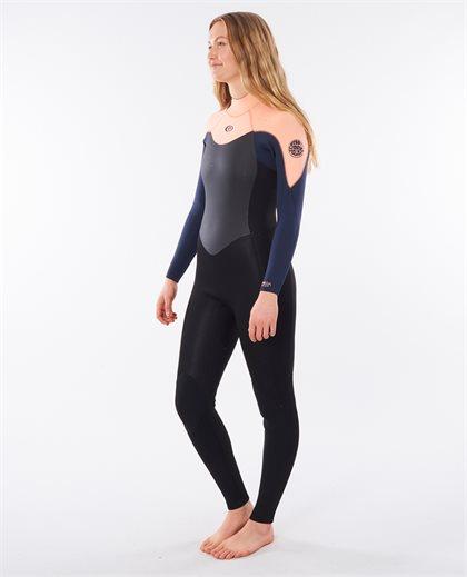 Womens Omega 4/3 Back Zip Wetsuit