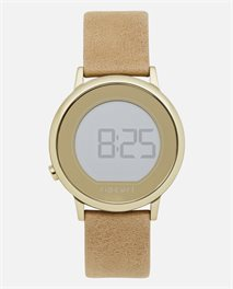 Reloj Daybreak Digital Gold Leather