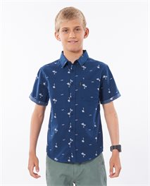 Summer Palm Short Sleeve Shirt Boy