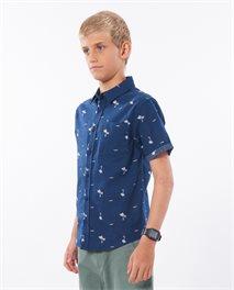 Chemise à manches courtes enfant Summer Palm