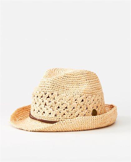 Crochet Straw Fedora