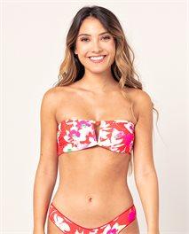 Sugar Bloom Bandeau V Bikini Top