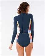 Golden State Rib Back Zip Long Sleeve Springsuit