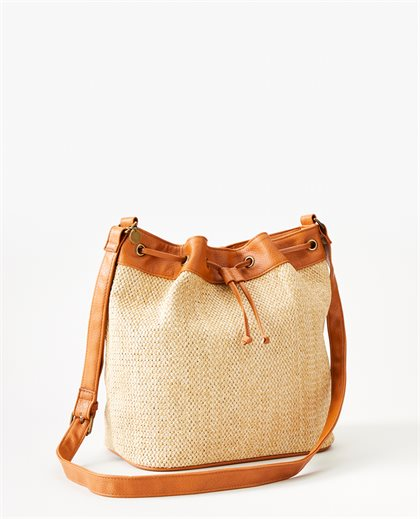 Paradise Palms Bucket Bag