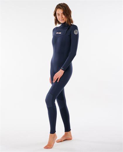 Women Dawn Patrol 4/3 Chest Zip Wetsuit