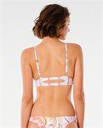 Blossom Stripe Triangle Bikini Top