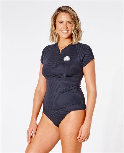 Premium Surf Flat Zip Cap Sleeve Tee
