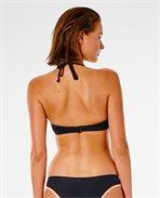 Twin Fin Solid Bandeau Bikini Top