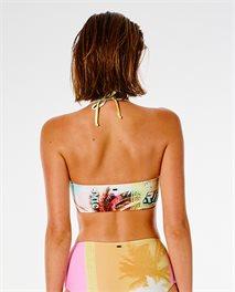 Parte de arriba de bikini estilo bandeau Twin Fin