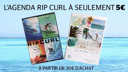 1 Agenda Rip Curl Français pour 5€ dès 30€ d'achat