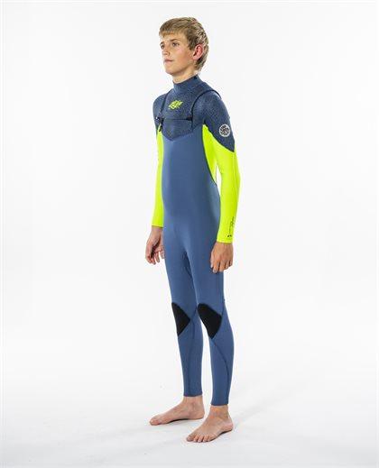 Junior Dawn Patrol 4/3 Chest Zip Wetsuit