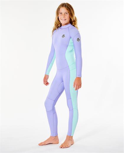 Girls Dawn Patrol 4/3 Back Zip Wetsuit