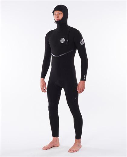 E Bomb 4/3 Zip Free Hooded Wetsuit