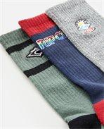 Icons Crew 3 Pack Sock