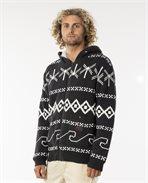 Campus Knit Hood Zip Sweater