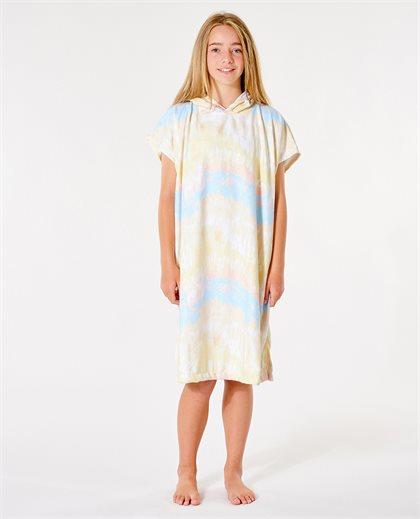 Tie Dye Hooded Poncho Girl